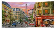 Rue Paris Hand Towel by Dominic Davison