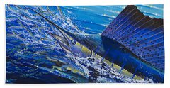 Sail On The Reef Off0082 Hand Towel by Carey Chen