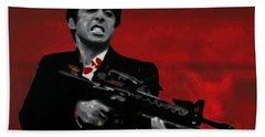 Say Hello To My Little Friend  Hand Towel by Luis Ludzska