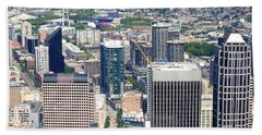 Seattle Skylines From The Columbia Hand Towel by Panoramic Images