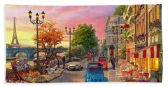 Seine Sunset Hand Towel by Dominic Davison