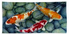 Serenity Koi Hand Towel by Hailey E Herrera