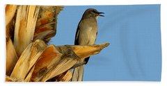 Singing Mockingbird Hand Towel by Marilyn Smith