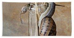 Snails Hand Towel by Nailia Schwarz
