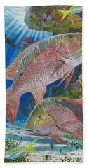 Snapper Spear Hand Towel by Carey Chen