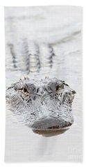 Sneaky Swamp Gator Hand Towel by Carol Groenen