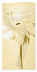 Snow Flake Zinnia Hand Towel by Sherry Allen