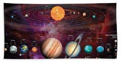 Solar System 1 Hand Towel by Garry Walton