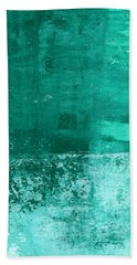 Soothing Sea - Abstract Painting Hand Towel by Linda Woods
