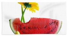 Spring Watermelon Hand Towel by Carlos Caetano