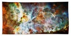 Star Birth In The Carina Nebula  Hand Towel by Jennifer Rondinelli Reilly - Fine Art Photography