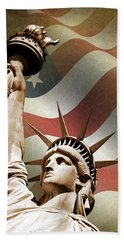 Statue Of Liberty Hand Towel by Mark Rogan
