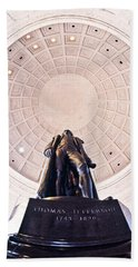 Statue Of Thomas Jefferson Hand Towel by Panoramic Images