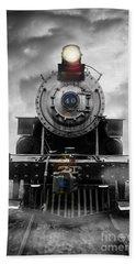 Steam Train Dream Hand Towel by Edward Fielding