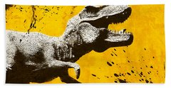 Stencil Trex Hand Towel by Pixel Chimp