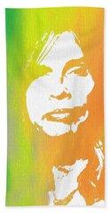 Steven Tyler Canvas Hand Towel by Dan Sproul