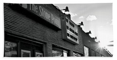 Stone Pony Asbury Park Side View Hand Towel by Terry DeLuco