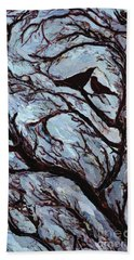 Stormy Day Greenwich Park Hand Towel by Ellen Golla