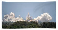 Hand Towel featuring the photograph Sts-132, Space Shuttle Atlantis Launch by Science Source
