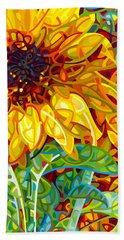 Summer In The Garden Hand Towel by Mandy Budan