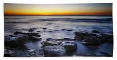 Sunrise At Cave Point Hand Towel by Scott Norris