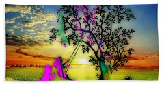 Sunset Hand Towel by Marvin Blaine