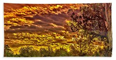 Sunset Navajo Tribal Park Canyon De Chelly Hand Towel by Bob and Nadine Johnston
