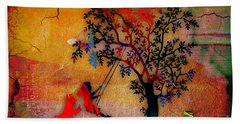 Swinging On A Tree Hand Towel by Marvin Blaine