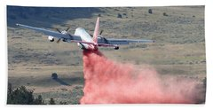 Hand Towel featuring the photograph Tanker 45 Dropping On Whoopup Fire by Bill Gabbert
