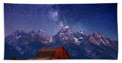 Teton Nights Hand Towel by Darren  White