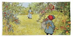 The Apple Harvest Hand Towel by Carl Larsson
