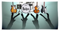 The Beatles Hand Towel by Lena Day
