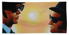 The Blues Brothers Hand Towel by Paul Meijering