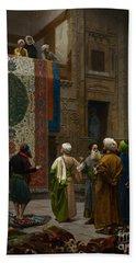 The Carpet Merchant Hand Towel by Jean Leon Gerome