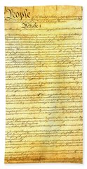 The Constitution Of The United States Of America Hand Towel by Design Turnpike