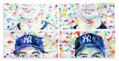 the CORE FOUR - watercolor portrait.1 Hand Towel by Fabrizio Cassetta