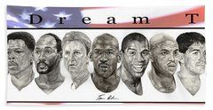 the Dream Team Hand Towel by Tamir Barkan