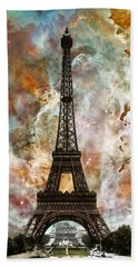 The Eiffel Tower - Paris France Art By Sharon Cummings Hand Towel by Sharon Cummings