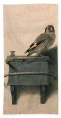 The Goldfinch Hand Towel by Carel Fabritius