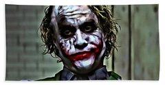The Joker Hand Towel by Florian Rodarte