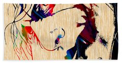 The Joker Heath Ledger Collection Hand Towel by Marvin Blaine