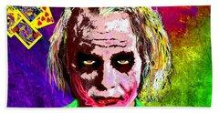 The Joker - Heath Ledger Hand Towel by Daniel Janda
