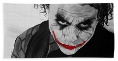 The Joker Hand Towel by Robert Bateman