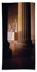The Lincoln Memorial In The Morning Hand Towel by Panoramic Images
