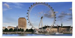 The London Eye Hand Towel by Rod McLean