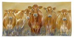 The Morning Moo Hand Towel by Catherine Davis