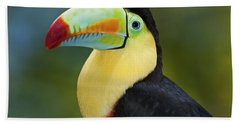 The Rainbow Bird.. Hand Towel by Nina Stavlund