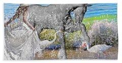 The Sea Horse Hand Towel by Betsy Knapp