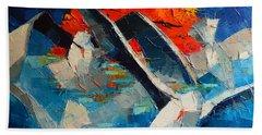 The Seagulls 2 Hand Towel by Mona Edulesco