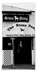 The Stone Pony Asbury Park Nj Hand Towel by Terry DeLuco